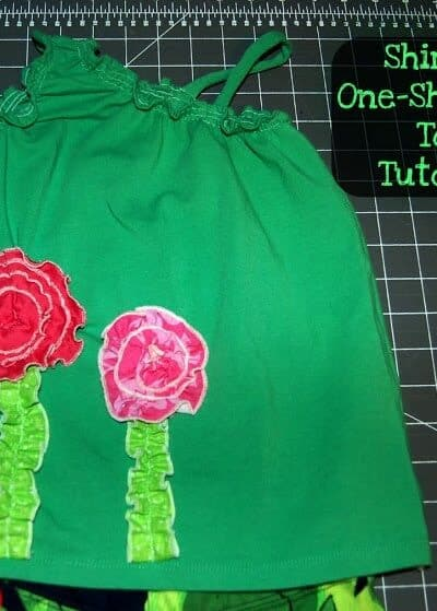 One Shoulder Top, and Tutorial