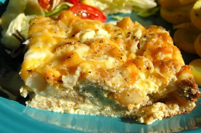 Ham, Cheese and Hash Brown Frittata