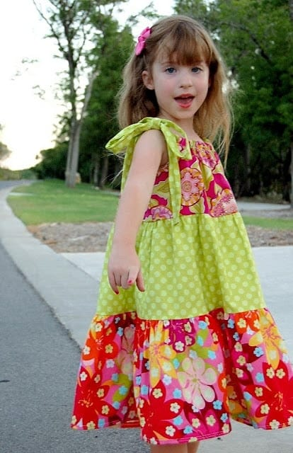 How to make a tiered pillowcase dress