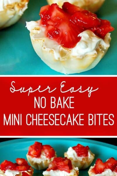 Easy, No Bake Mini Cheesecake Bites