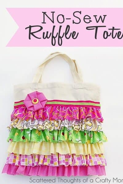 No Sew Ruffle Tote with Tutorial