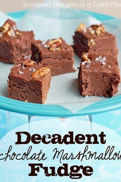Decadent Chocolate Marshmallow Fudge