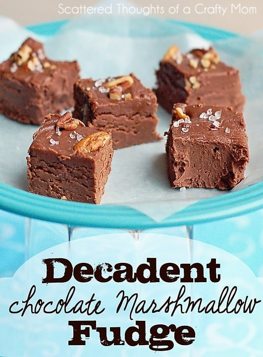 Decadent Chocolate Marshmallow Fudge Scattered Thoughts