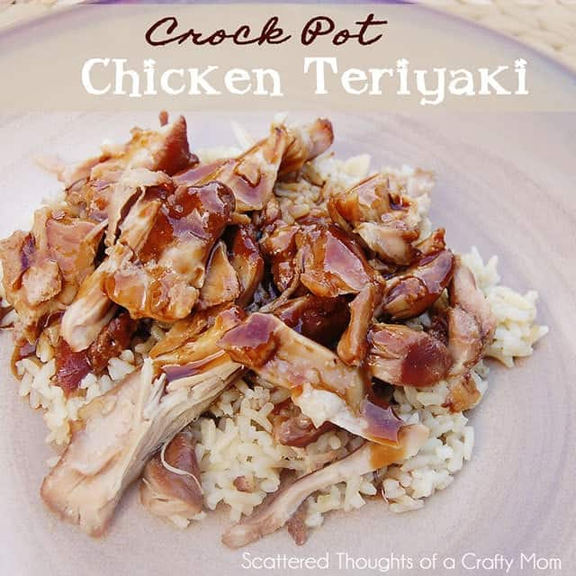Slow Cooker Chiken Teriyaki: One of the best Easy Crock Pot Chicken Teriyaki recipes out there! (the secret is chicken thighs- not breasts...)