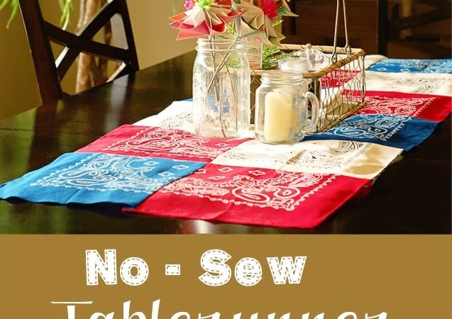 No Sew Table Runner