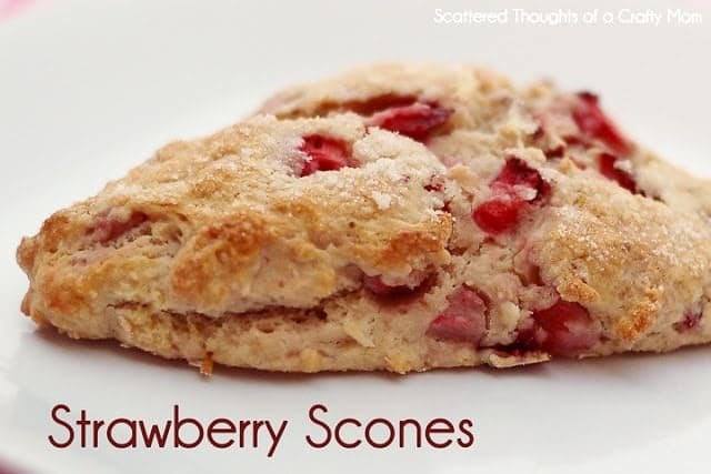 Fresh Strawberry Scones and Homemade Strawberry Milk - Scattered ...