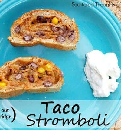 (Clean out your Fridge) Taco Stromboli
