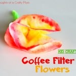 Kid Craft: Coffee Filter Flowers