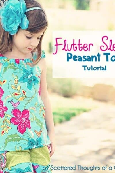 Flutter Sleeve Peasant Top Tutorial with Free Pattern
