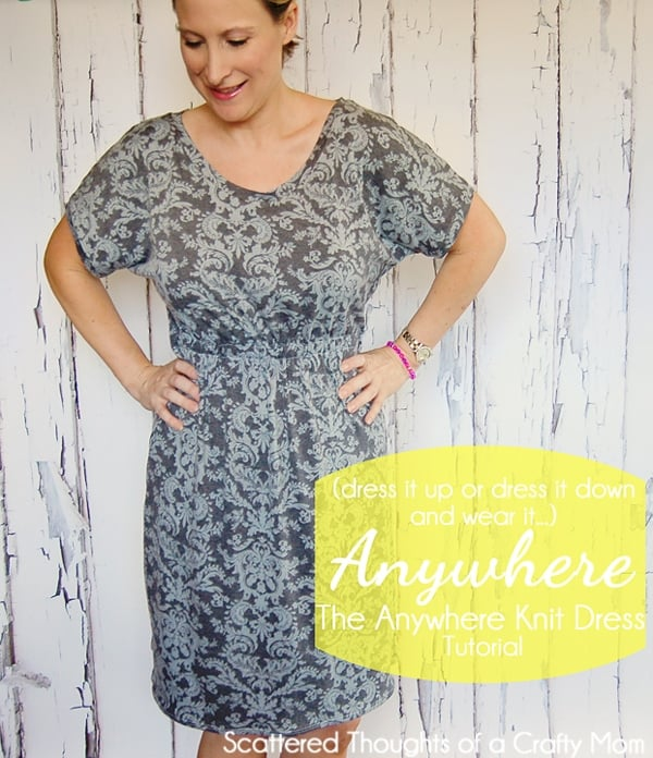Go Anywhere Dress Tutorial- how to sew a simple knit dress for women