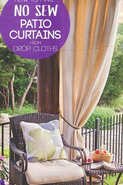 DIY Patio Curtains from Drop Cloths (with no sewing)