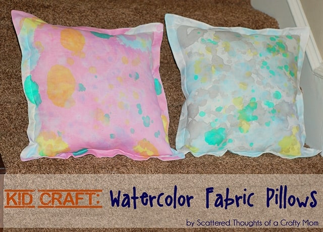 Kid Craft Diy Watercolor Fabric