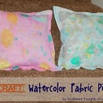 Kid Craft: Watercolor Fabric Pillows (and a new Sponsor!)