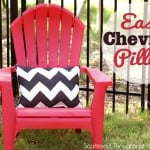 Easy Chevron Stenciled Pillow (w/ Fabric Spray Paint)