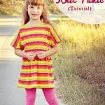 Girls Knit Tunic Top Tutorial (aka The Rainbow Sherbet Top)