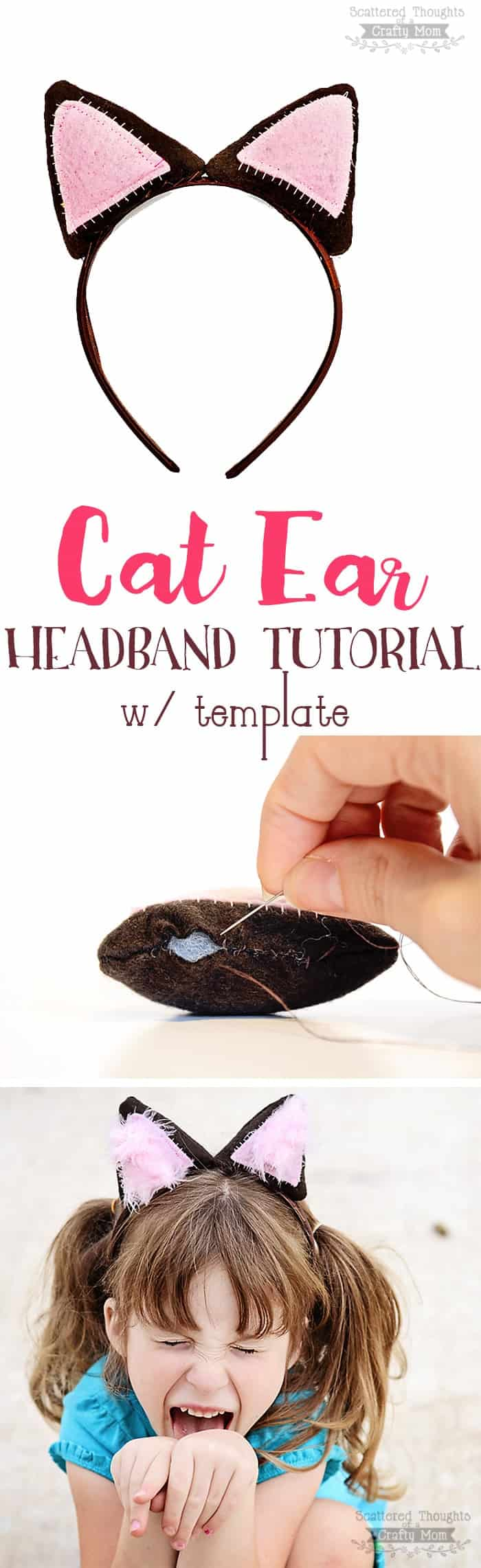 Diy Cat Ear Headband Tutorial W Template Scattered Thoughts Of A Crafty Mom