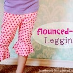 Flounce Bottom Leggings Tutorial w/ free pattern