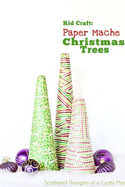 Kid Craft: Paper Mache Christmas Trees