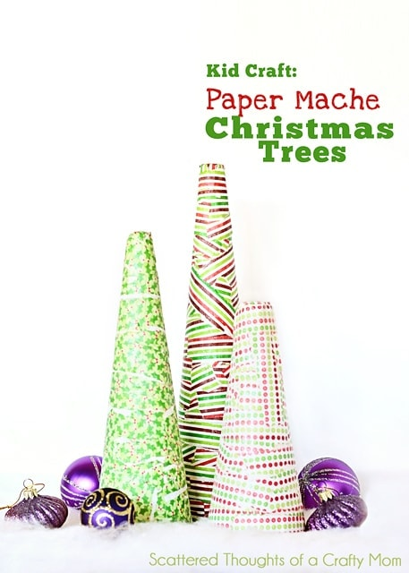 These paper mache-like Christmas tree ornaments are actually a lot easier to make than you might think. Grab some leftover newspaper, whip up some paste using flour and water, and you're ready to go! This post contains affiliate links. Paper Mache Christmas Tree Ornament.