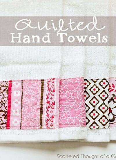 Free Motion Quilting – Embellished Towels