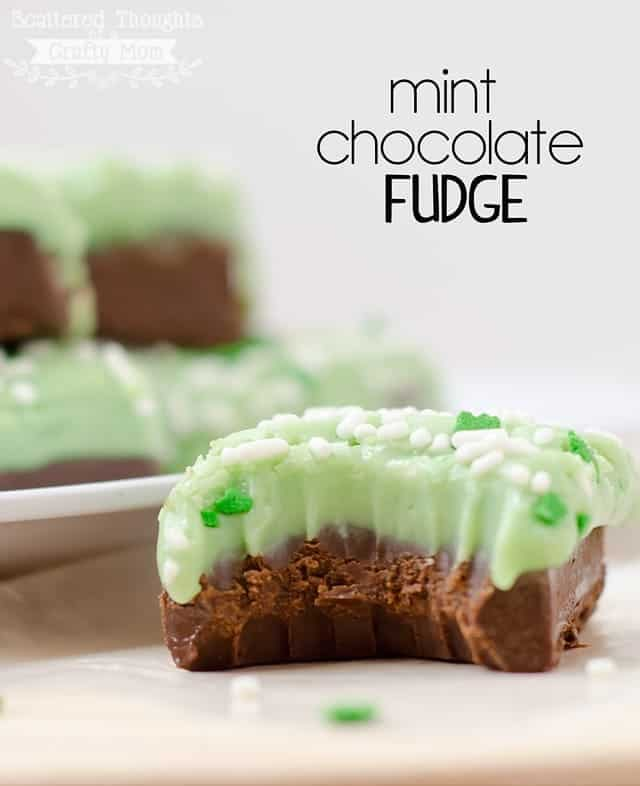 Fabulous Mint Chocolate Fudge recipe- takes less than 10 minutes to put together!