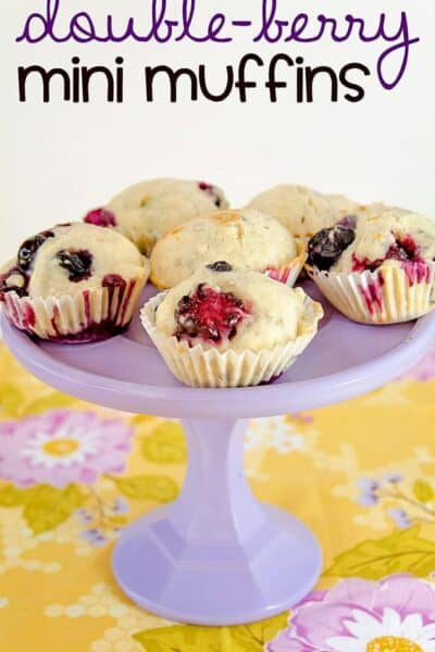 Double Berry Mini Muffins