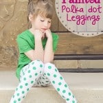 DIY Polka Dot Leggings (with fabric paint)