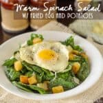 Warm Spinach Salad with Fried Egg and Potatoes
