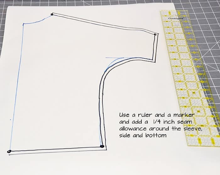 how to make a dolman top pattern