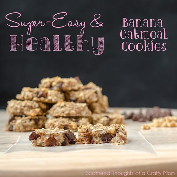2 ingredient banana and oatmeal cookie
