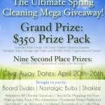 Ultimate Spring Cleaning Giveaway! (Grand Prize Pack worth $350, plus 9 2nd place winners worth $50!)