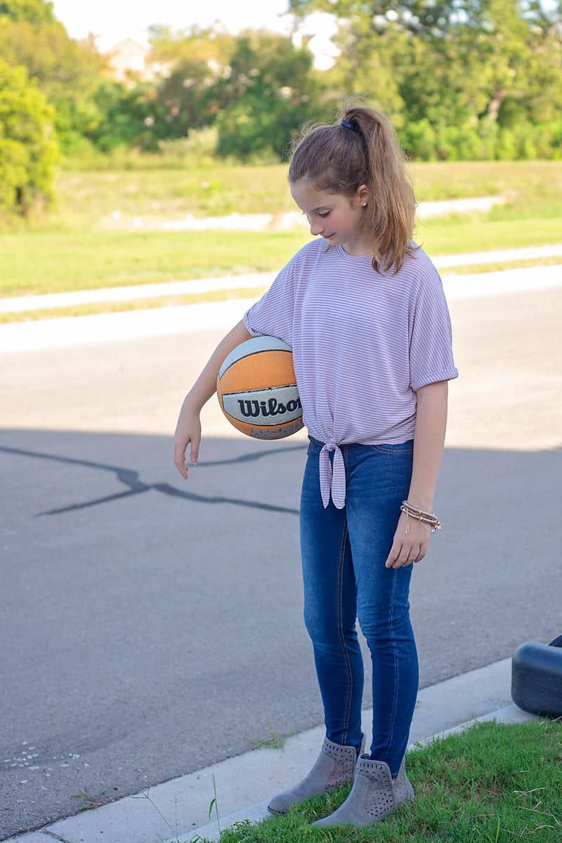 Tie Front Knit Top Pattern (free Dolman Sleeve sewing pattern for girls)