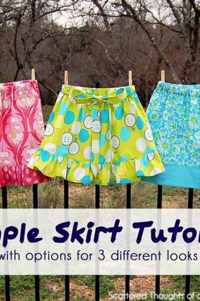 Flashback Friday: Simple Skirt Tutorial w/ Options for 3 Looks