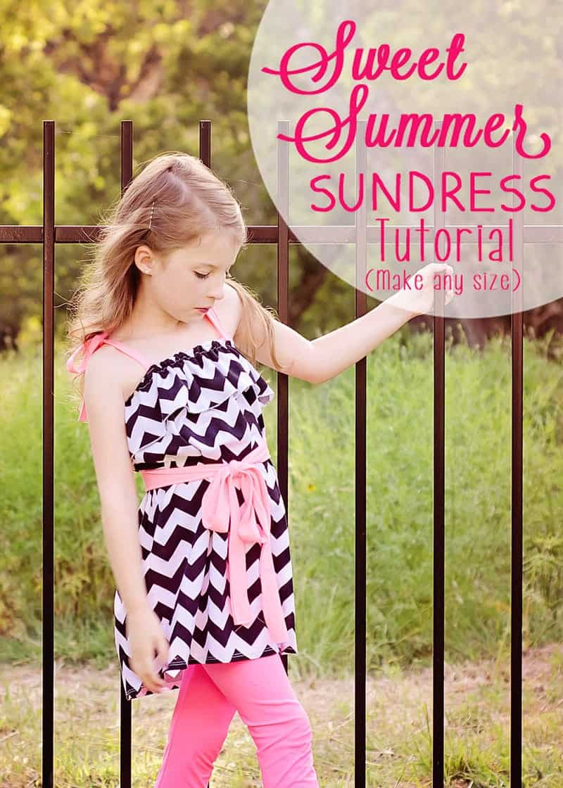 Make a Sweet Summer Sundress in any size with this Ruffled Sundress Tutorial!