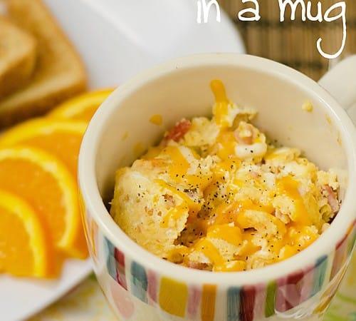 2 Minute Omelette in a Mug