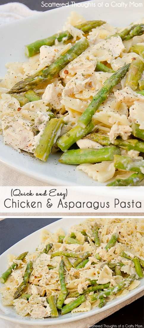 Creamy Chicken and Asparagus Pasta - Scattered Thoughts of a Crafty ...