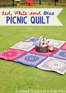 How to Make a Bandanna Quilt in just a few hours. (No binding method.)