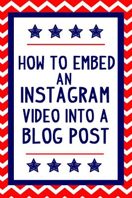 How fun is this?  How to embed Instagram videos into a blog post!
