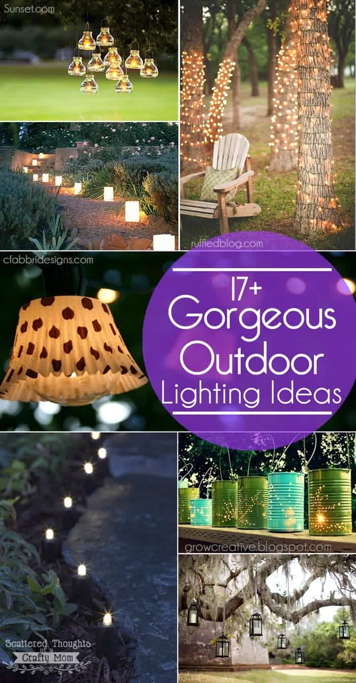 17 gorgeous and easy to duplicate outdoor lighting ideas for your garden or patio backyard lighting ideas