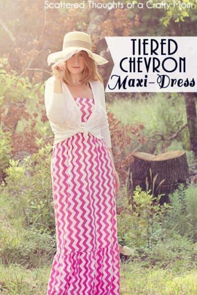 Tiered Chevron Maxi Dress Tutorial