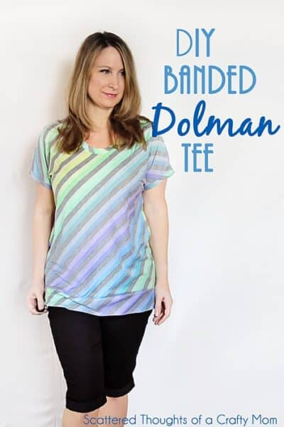 How to make a Dolman T-Shirt without a pattern (DIY Banded Dolman Tee)