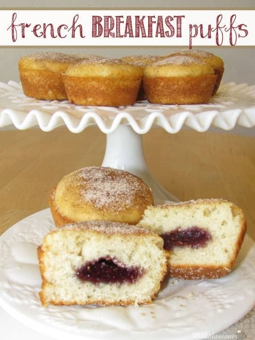 French Breakfast Puffs recipe from Sugar Blossoms