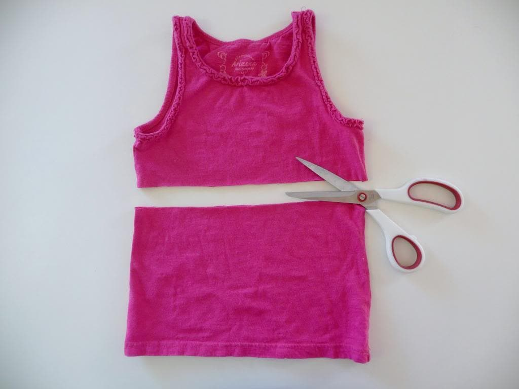 how to make a dress from a tank top