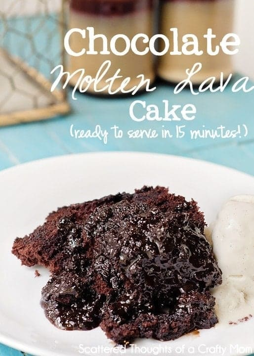 My favorite pampered chef lava cake recipe: This Microwave Chocolate Molten Lava Cakecake issuper easy to throw togetherand only takes about 15 minutes to make!
