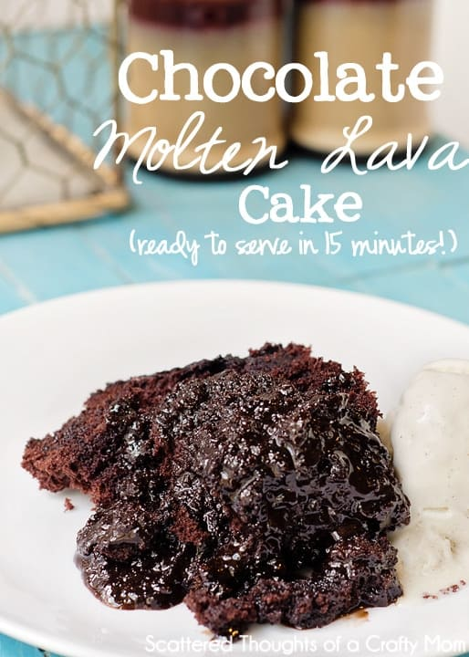 Microwave Chocolate Molten Lava Cake In Less Than 15