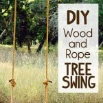 How to Make a  Rustic Rope and Wood Tree Swing
