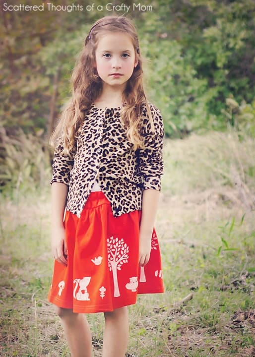 diy stenciled skirt