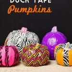 Decorate Your Pumpkins w/ Duck Tape