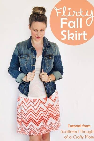 Flirty Fall Skirt Tutorial