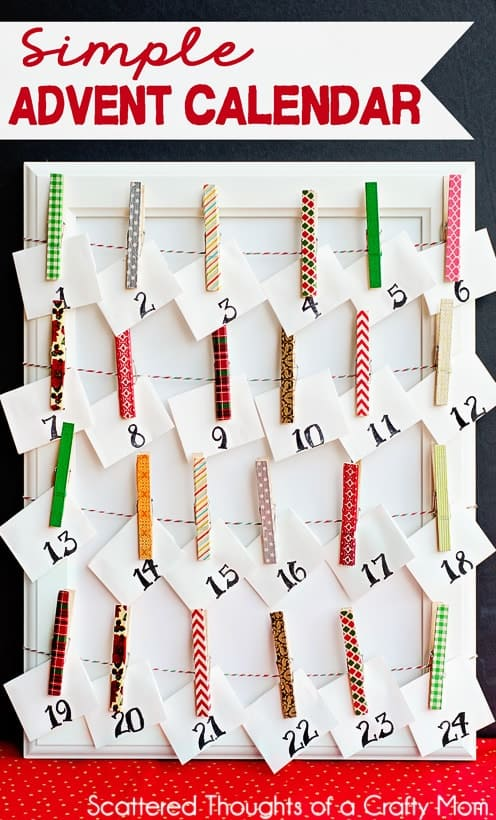 Advent Calendar Ideas What To Put In : Make a simple advent calendar scattered thoughts of